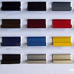 Perfil de aluminio para enmarcado, en varios colores.